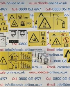 Genie S65 Safety Decal,Sticker Kit