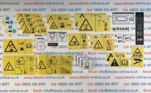 Genie S65 Safety Decal,Sticker Kit
