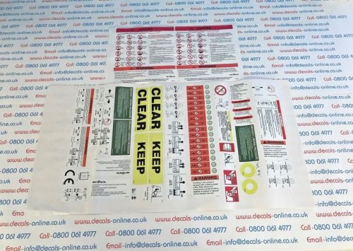 Skyjack SJ111-3220 Decal / Sticker Kit Complete